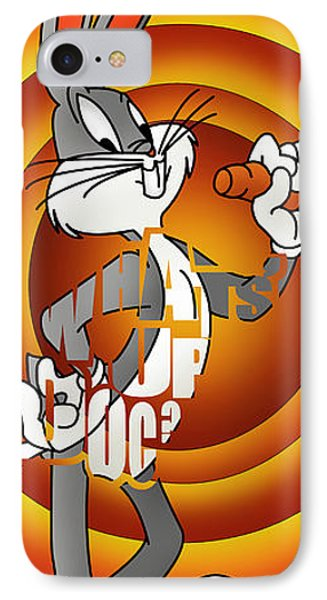 Looney Tunes Bugs Bunny  IPhone Case by Ehud Shomron