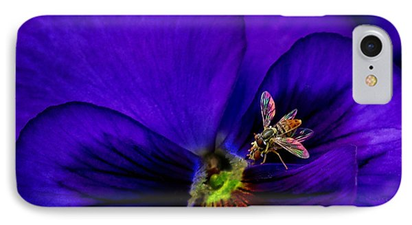 Bugs On Pansy IPhone Case