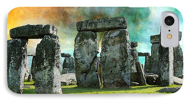 Building A Mystery - Stonehenge Art By Sharon Cummings IPhone Case