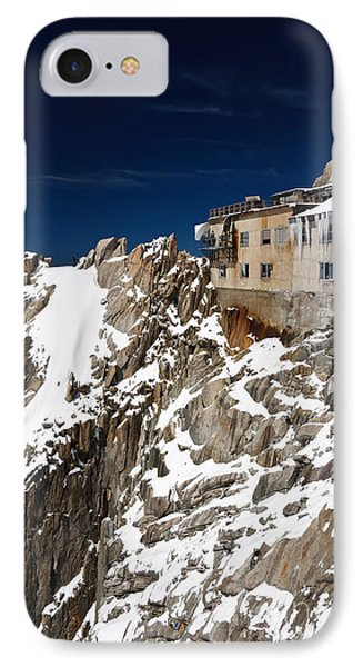 IPhone Case featuring the photograph building in Aiguille du Midi - Mont Blanc by Antonio Scarpi