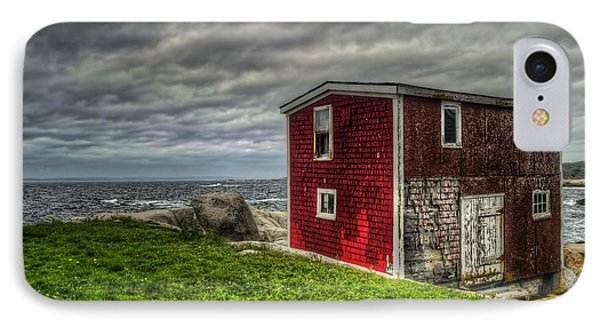 Building On The Sea's Edge IPhone Case by Ken Morris