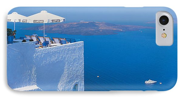 Building On Water, Boats, Fira IPhone Case by Panoramic Images