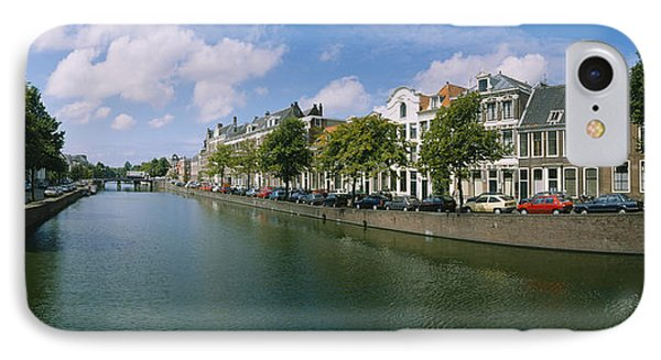 Buildings Along A Canal, Haarlem IPhone Case by Panoramic Images