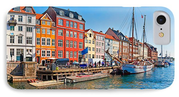 Buildings Along A Canal With Boats IPhone Case by Panoramic Images