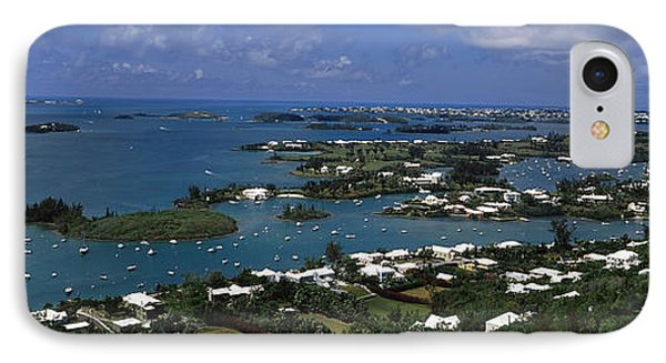 Buildings Along A Coastline, Bermuda IPhone Case by Panoramic Images