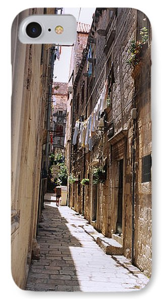 Buildings Along An Alley In Old City IPhone Case by Panoramic Images
