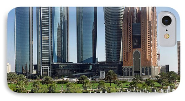 Buildings Along Corniche Road, Al IPhone Case by Panoramic Images