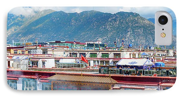 Buildings In A City, Lhasa, Tibet, China IPhone Case by Panoramic Images
