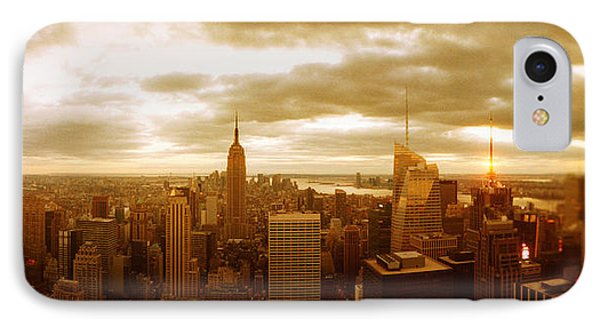 Buildings In A City, Manhattan, New IPhone Case by Panoramic Images