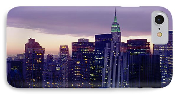 Buildings In A City, Manhattan, Nyc IPhone Case by Panoramic Images
