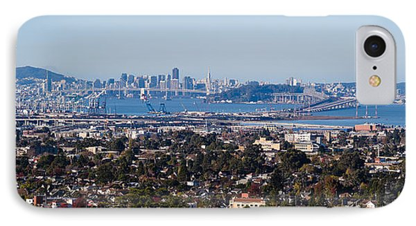 Buildings In A City, Oakland, San IPhone Case by Panoramic Images