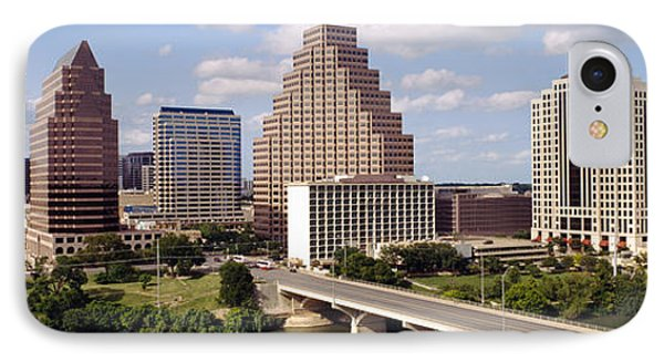 Buildings In A City, Town Lake, Austin IPhone Case by Panoramic Images