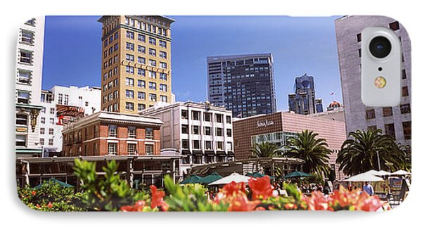 Buildings In A City, Union Square, San IPhone Case by Panoramic Images