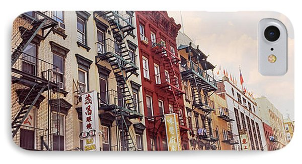 Buildings In A Street, Mott Street IPhone Case by Panoramic Images