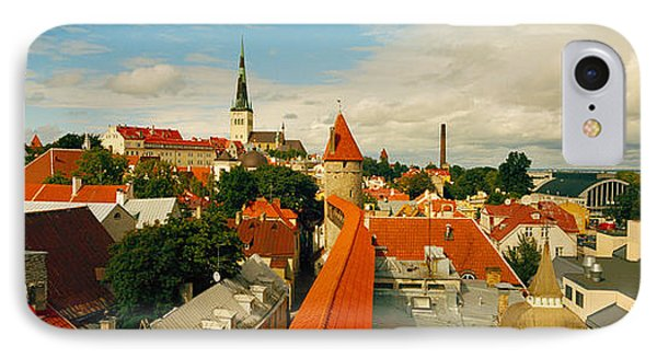 Buildings In A Town, Tallinn, Estonia IPhone Case by Panoramic Images