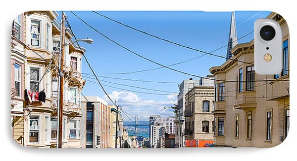 Buildings In City With Bay Bridge IPhone Case by Panoramic Images