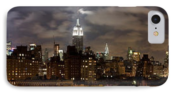 Buildings Lit Up At Night, Empire State IPhone Case by Panoramic Images