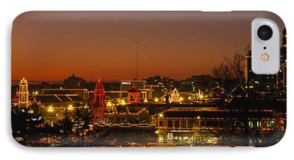 Buildings Lit Up At Night, La Giralda IPhone Case