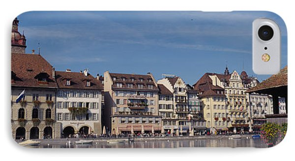 Buildings On The Waterfront, Lucerne IPhone Case by Panoramic Images