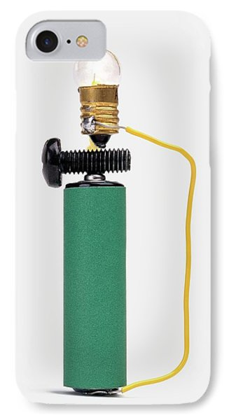 Bulb Resting On Steel Screw IPhone Case by Dorling Kindersley/uig