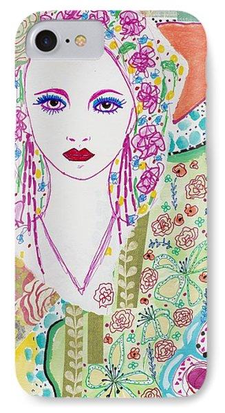 Bulgarian Folk Girl IPhone Case by Rosalina Bojadschijew