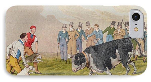 Bull Baiting Phone Case by Henry Thomas Alken