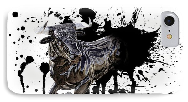 Bull Breakout Phone Case by Daniel Hagerman