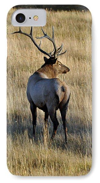 Bull Elk Surveying His Harem Phone Case by Bruce Gourley