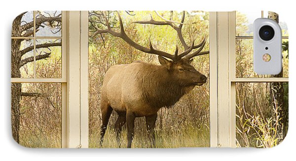 Bull Elk Window View Phone Case by James BO  Insogna
