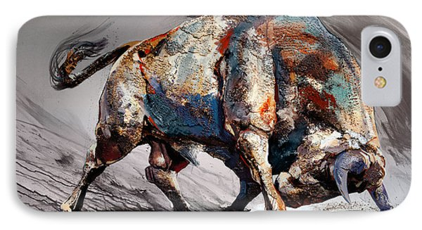Bull Fight Back Phone Case by Dragan Petrovic Pavle