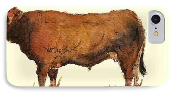 Bull iPhone 7 Case - Bull by Juan  Bosco