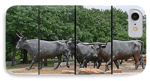 Bull Market Quadriptych Phone Case by Christine Till