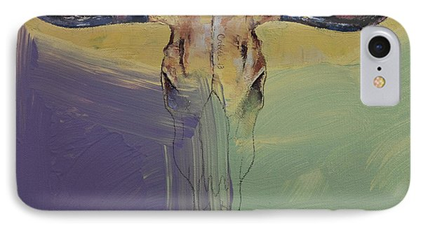 Bull IPhone Case by Michael Creese
