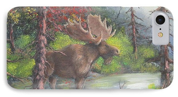 Bull Moose IPhone Case by Megan Walsh