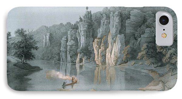 Bullard Rock On The New River IPhone Case by Edward Beyer
