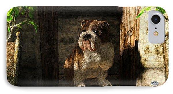 Bulldog In A Doorway IPhone Case