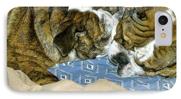 IPhone Case featuring the photograph Bulldog Love Forever  by Lehua Pekelo-Stearns