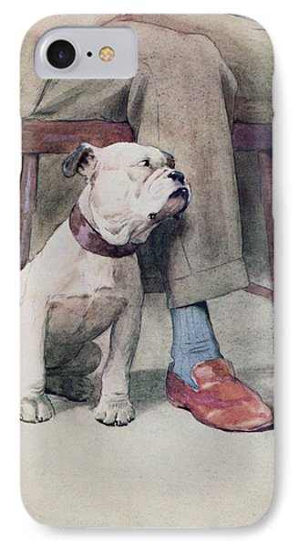 Bulldog Pen & Ink & Wash On Paper IPhone Case by Cecil Charles Windsor Aldin