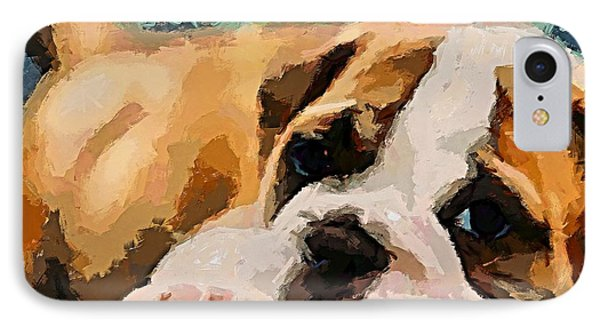 Bulldog Puppy IPhone Case by Dragica  Micki Fortuna