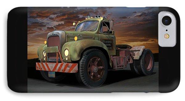 IPhone Case featuring the digital art Bulldog Sunset by Stuart Swartz