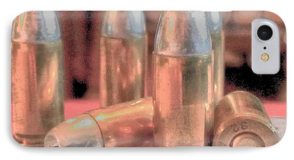 Bullet Art Hollow Point Soft Gold Phone Case by Lesa Fine
