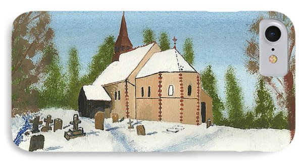 IPhone Case featuring the painting Bulley Church by John Williams
