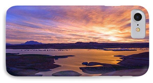 Bullfrog Marina Sunrise  IPhone Case by Eric Rundle