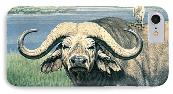Egret iPhone 7 Case - 'bullrider'   by Paul Krapf