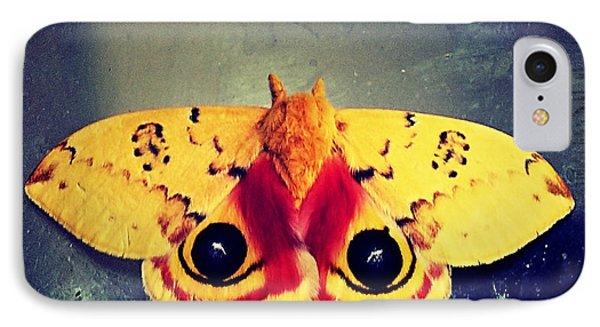 Bullseye Moth IPhone Case by Christy Ricafrente