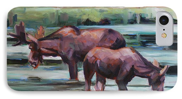 Bullwinkle And Friend IPhone Case by Billie Colson