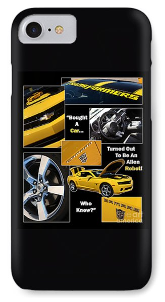 Bumble Bee-robot - Poster Phone Case by Gary Gingrich Galleries