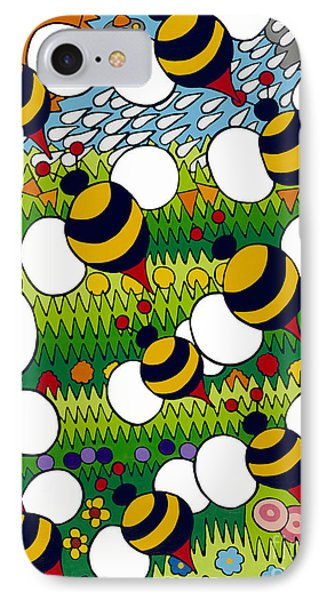 Bumble IPhone Case by Rojax Art