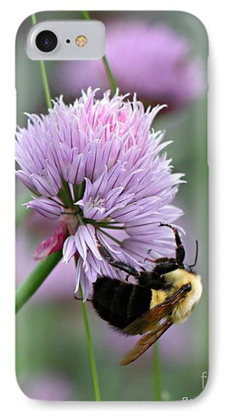 IPhone Case featuring the photograph Bumblebee On Clover by Barbara McMahon