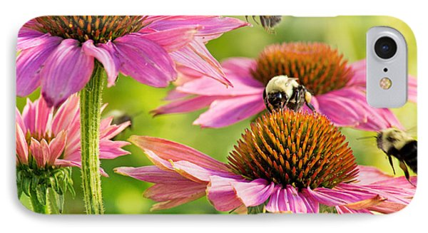 Bumbling Bees IPhone Case by Bill Pevlor
